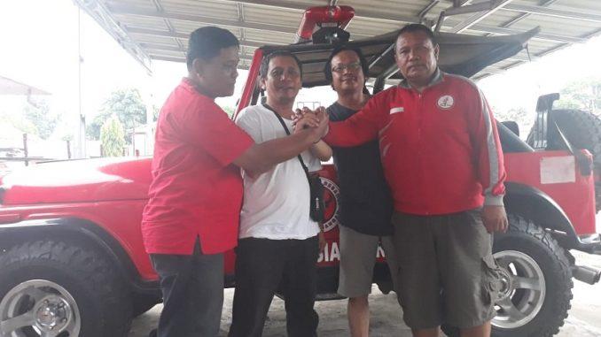 Ketua DPC Pospera Pematangsiantar Marlon Sidabutar, Azahari Nasution, Andy Simarmata, Benny Sibarani