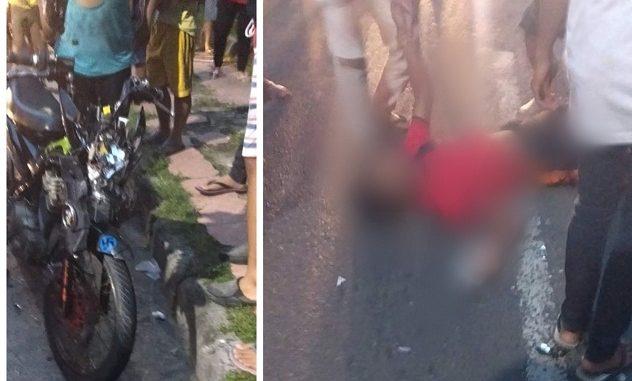 Korban Kecelakaan Terkapar Di Jalan Ditolong Warga