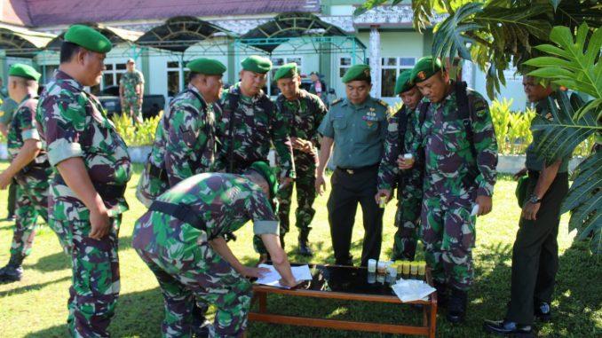 Komandan Kodim (Dandim) 0207/Simalungun Letkol Inf Frans Kishin Panjaitan, S.A.P., M.P.M, melaksanakan Tes urine Selesai Melaksanakan Cuti Lebaran yg di laksanakan secara Mendadak.