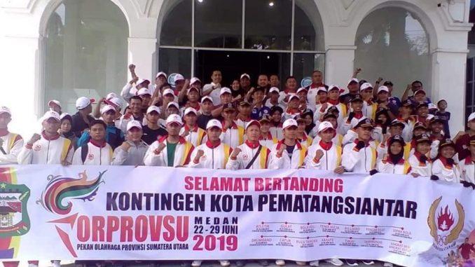 Kontingen Atlet Pematangsiantar Ikuti Pekan Olah Raga Provinsi di Kota Medan