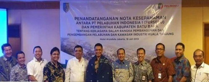 TBUPP Dampingi Ir Zahir M.AP Teken MoU Dengan PT. PELINDO
