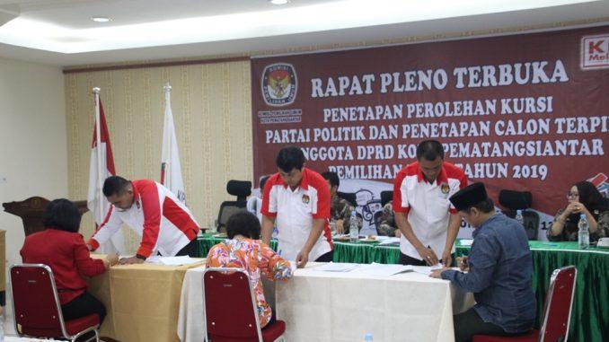 30 Anggota DPRD Siantar Sudah Ditetapkan Oleh KPU