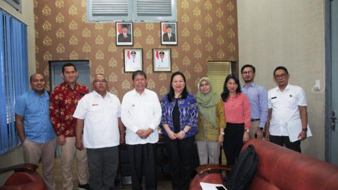 BPK Perwakilan Sumut Saat Berkunjung di Ruangan Walikota Pematangsiantar Togar Sitorus