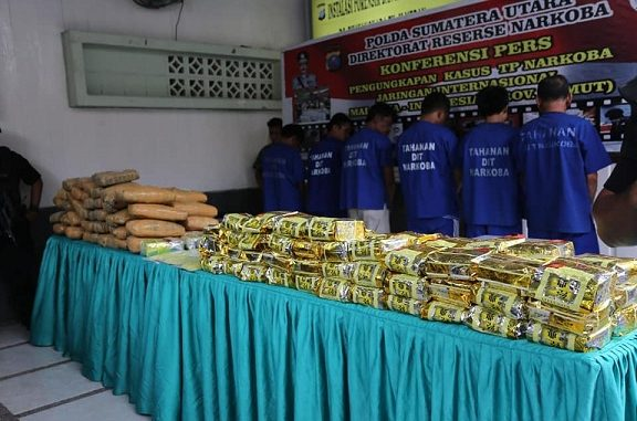 Polda Sumut Menembak Mati Seorang Pengedar Narkoba dan Menggagalkan Peredaran 73 Kg Shabu, 70 Kg Ganja