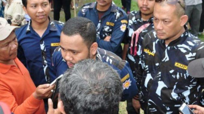 Ketua DPD Satma Ampi Sumut Fachmi Wahyudi Harahap saat diwawancarai