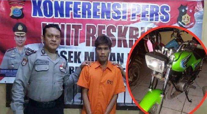 Nekad Curi Sepeda Motor Untuk Bayar Hutang, Denny Nginap di Sel Polisi.jpg
