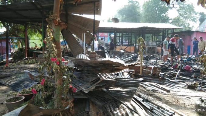 Dua Unit Rumah Hangus Terbakar di Lumban Bul-Bul Balige