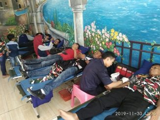 Laskar Merah Putih Indonesia (LMPI) Markas Cabang Kabupaten Lebak tersebut juga menggelar acara donor darah.