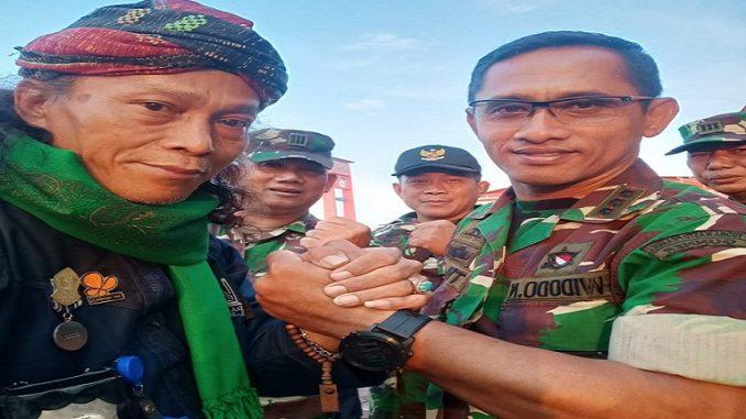 Dandim 0418 Kolonel Armed Widodo N bersama Ketua Umum Gerakan Indonesia Anti Narkotika R.Guntur Eko Widodo