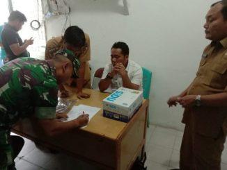 Penandatanganan BA pemeriksaan Kertas Suara Pilkades Lumban Gaol, Balige, Selasa (19/11/2019)