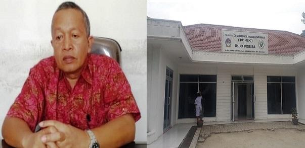 Direktur RSUD Porsea dr Tihar Hasibuan Mkes