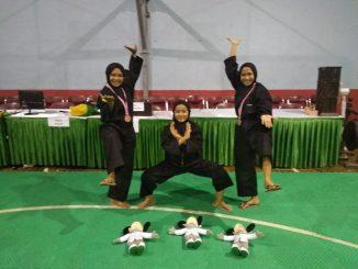 Pekan Olah Raga dan Seni antar Pondok Pesantren Tingkat Nasional ( Pospenas) ke- 8 di GOR Tri Lomba Juang Bandung Jawa Barat, Rabu.27/11/2019.