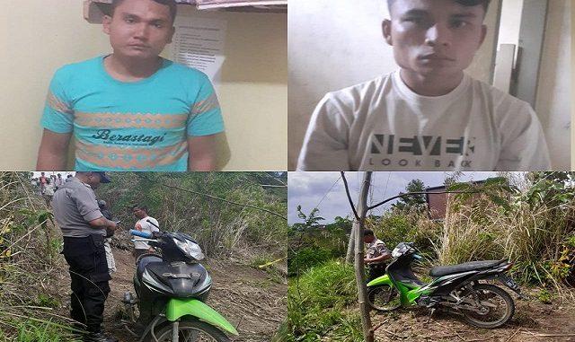 Pelaku FS (26) dan RS (26)merupakan warga Naga Huta blok 12 P. Siantar dibawa ke Mapolsek Dolok Pardamean dan barang bukti 2 (dua) unit sepeda motor : Honda Rebo 110 plat racing nomor 2827 ED (yang dicuri)