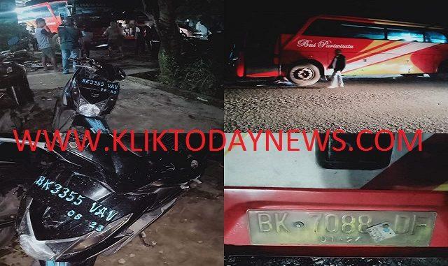 Bus Parawisata Mengalami Kecelakaan di Jalan Asahan Km.4 Kab.Simalungun , 16/12/2019 sekitar pukul 21.00 WIB