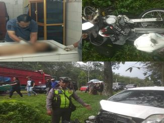 Kecelakaan mobil Yaris BK 1359 GB kontra sepeda motor BK 3418 NAJ dilaporkan terjadi di Km 13-14 jalan lintas Medan- Pematang Siantar wilayah Dolok Ulu Kecamatan Tapian Dolok Kabupaten Simalungun, Sabtu (14/12) pukul 13.30 Wib.