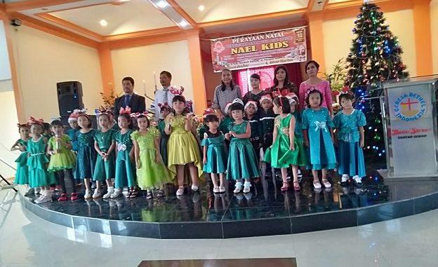 Perayaan Natal Pendidikan Anak Usia Dini ( PAUD) NAEL KIDS Selasa 12/12/2019 di Gereja GBI Mawar Saron, Jln DI Panjaitan Km 4,5 /24