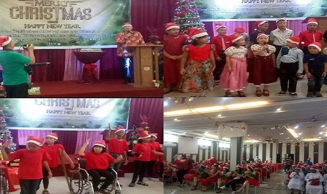 BSS Foundation kota Siantar merayakan Natal bersama 5 panti Asuhan yang berada di kota Pematangsiantar, Khamis (12/12/2019) di RM.Grand Asean Jalan Asahan,Pematangsiantar