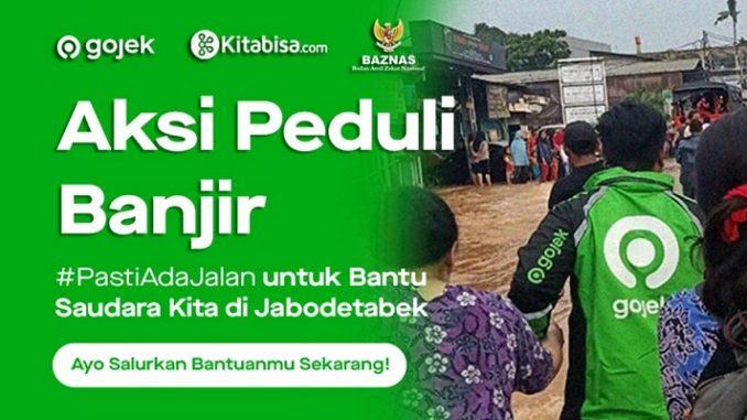 Gojek Donasi Untuk Membantu Korban Banjir Di Jakarta
