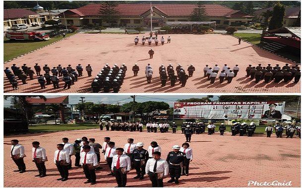 Kapolres Tobasa AKBP.Agus Waluyo S.I.K.Selain di Toba Samosir Pimpin Upacara Peringatan HUT Satpam di gelar secara serentak di seluruh Indonesia.