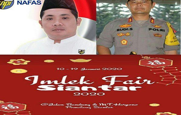 Sebelah Kiri : Ketua KNPi Pematangsiantar Ilal Mahdi Nasution, SH,Kanan : Kapolresta Siantar AKBP Budi Pardamean Saragih