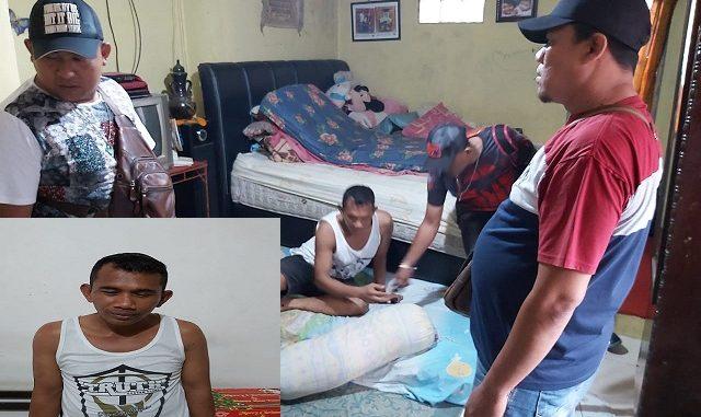 Pelaku Pernando Panjaitan alias Nando (39) warga jalan Kawal Samudra No.3, kelurahan Siopat Suhu, kecamatan siantar Timur, Kota Pematangsiantar.