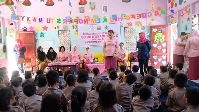 Ketua Bhayangkari Cabang Tanjung Balai Berkunjung ke TK Kemala Bhayangkari, 24/2/2020