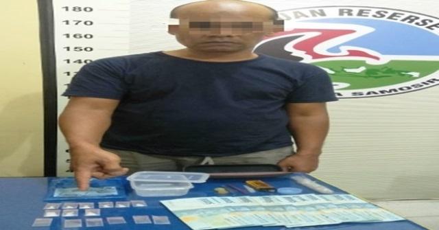 BM Beserta Barang Bukti 9 Paket Sabu Diamankan di Polres Tobasa