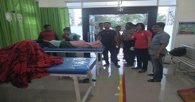 korban masih menjalani rawat pemulihan di Puskesmas Tiga Balata Sebanyak 23 orang, di Klinik Tiga Balata 2 orang