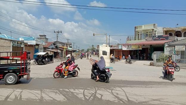 Revitalisasi Persimpangan Empat Tanjung Tiram Belum Maksimal Hasil Kinerjanya Oleh Tim Pemkab Batu Bara.