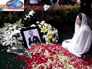 Jenazah Ashraf dimakamkan di San Diego Hills, Karawang, Jawa Barat ,( 18/2/2020) sore