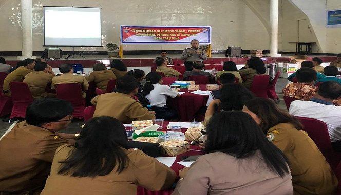 Wakapolres dalam Forum Group Discussion (FGD) atau diskusi kelompok di Gedung Nasional jalan Letjen Suprapto, Hutaroruan VI Tarutung, Selesa (25/2/2020)