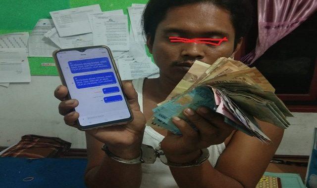 Susandri Utoyo alias Gondrong (30) ditangkap Tim Opsnal Reskrim Poksek Dolok Masihul.