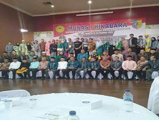 MUNAS I HIKABARA berlangsung di Gedung Anjungan RIAU, sedangkan Sidang-Sidang Komisi dan Paripurna dilaksanakan di Gedung Theatre Museum Penerangan TMII Jakarta. Sabtu 15/2/2020
