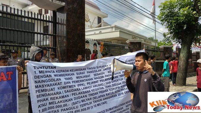 Aliansi bersama DPP Lipan dan DPC Tipikor Indonesia Siantar-Simalungun kembali menggeruduk kejaksaan tinggi sumut dengan melakukan aksi unjuk rasa pada Rabu (13/2/2020)