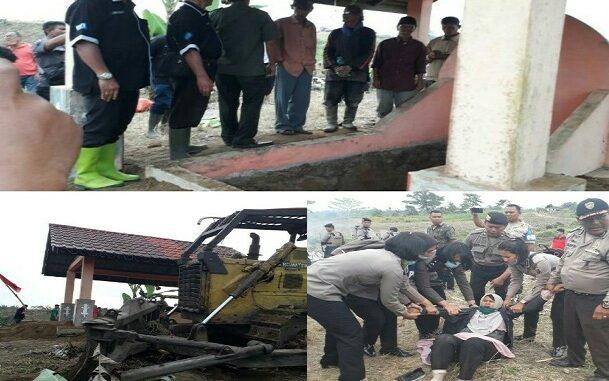 eksekusi pengosongan lahan seluas 20 Hektare di dusun Manik Silo Nagori Buntu Bayu Pane Raja Kecamatan Dolok Pardamean Kabupaten Simalungun Provinsi Sumatera Utara, Kamis, (27/2/2020) pukul 10.00 Wib.