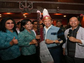 Ketua MPR-RI Bambang Soesatyo, SE, MBA di Kabupaten Tapanuli Utara sebagai Narasumber pada Sosialisasi Empat Pilar, bertempat di Gedung Kesenian Sopo Partungkoan-Tarutung, Jumat (07/02/2020)
