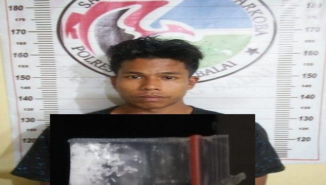 Tersangka yang diamankan berinisial M.Syahputra alias Acak (20) Diamankan atas kepemilikan sabu