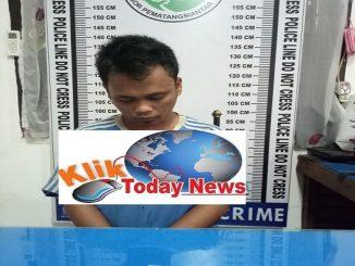 R alias Dani alias Tungkai (28) penduduk jalan Sriwijaya Kelurahan Baru Kecamatan Siantar Utara kota Pematang Siantar di bekuk Satres Narkoba Polres Pematang Siantar, Selasa (18/2/2020)