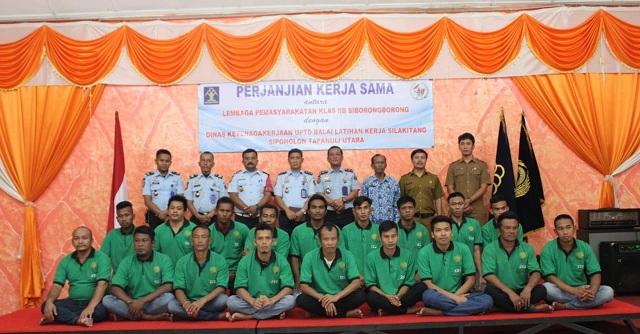 Lembaga Pemasyarakatan (Lapas) Klas IIB Siborongborong jalin kerjasama dengan Unit Pelaksana Teknis Dinas Balai Latihan Kerja Tarutung