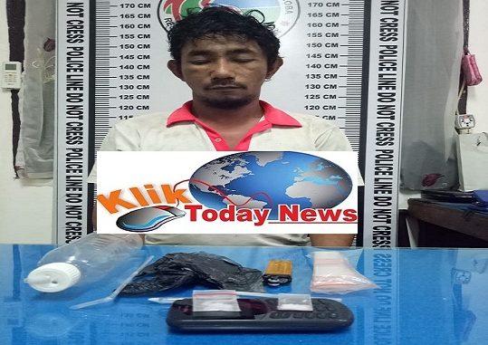 RS alias Tahan (42), di ringkus Satres Narkoba Polres Pematang Siantar, Senin (24/2/2020) pukul14 30 Wib