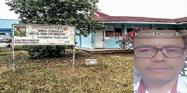 Kantor UPT Dikjar Kecamatan Tanah Jawa, Insert Photo Korwil Berto Saragih