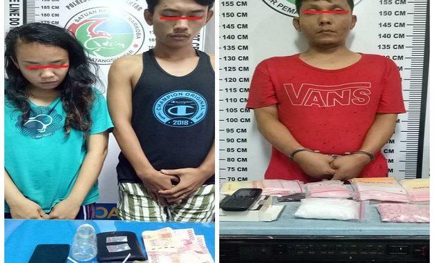 Tiga tersangka diamankan di Polres Pematangsiantar