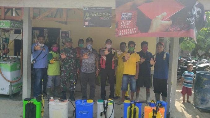 Penyemprotan disifektan di laksanakan Minggu (29/03/2020) jam 09.00 wib di Nagori Panambean Marjanji Kecamatan Tanah jawa Kabupaten Simalungun