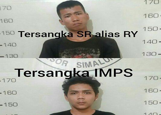 SR alias RY (20)dan IMPS (20) Tersandung kasus Narkoba