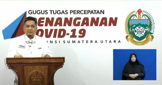 Juru Bicara Gugus Tugas Percepatan Penanganan Covid-19 Provinsi Sumut, dr Aris Yudhariansyah