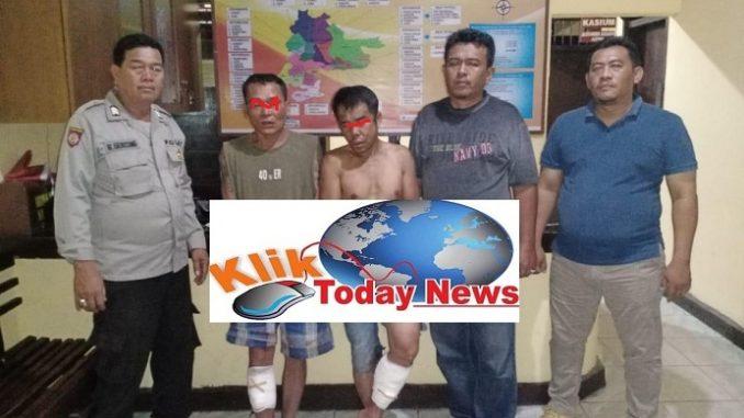 TIM Opsnal Unit Jahtanras Sat Reskrim Polres Simalungun berhasil meringkus dua komplotan perampok truk pengangkut jeruk SS alias Samser alias Carles (52) dan JD alias Angga (40)