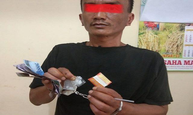 Hotmatua mantan Residivis narkoba yang Diamankan Ops Reskrim Polsek Dolok Masihul,Sabtu (29/2/2020) sekira pukul 13.30 WIB