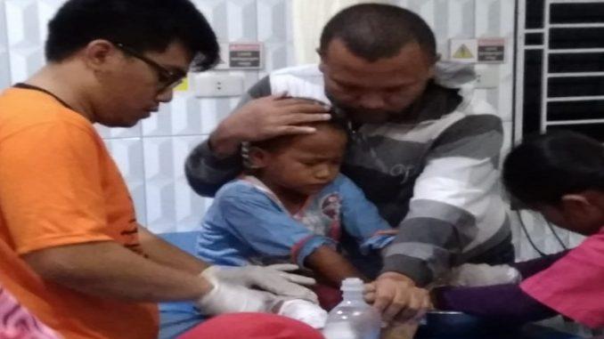 Cucunya Lamria saat dirawat