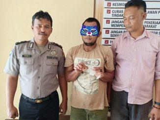 Jali, (36) Ditangkap Tekab Polsek Dolok Masihul, Jumat(27/3/2020) sekira pukul 22:55 WIB