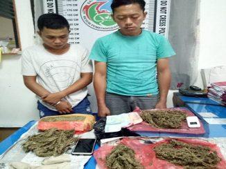 Agung dan Betmen,2 pengedar narkotika serta mengamankan 1.3 kilogram ganja Senin 30 Maret 2020 pukul 17.00 Wib.